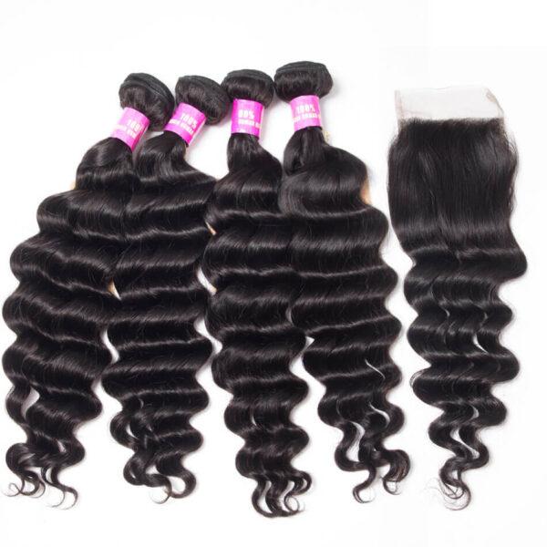 tinashe hair loose deep bundles with closure