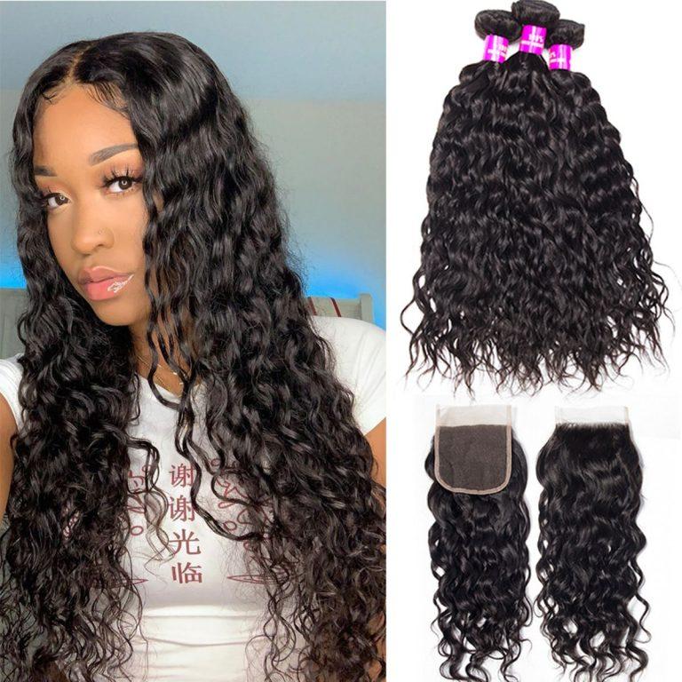 Tinashe-hair-Brazilian-water-wave-3-bundles-with-closure
