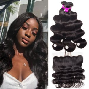 tinashe hair brazilian body wave 3 bundles with frontal