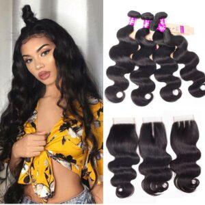 tinashe hair brazilian body wave 4 bundles with closure
