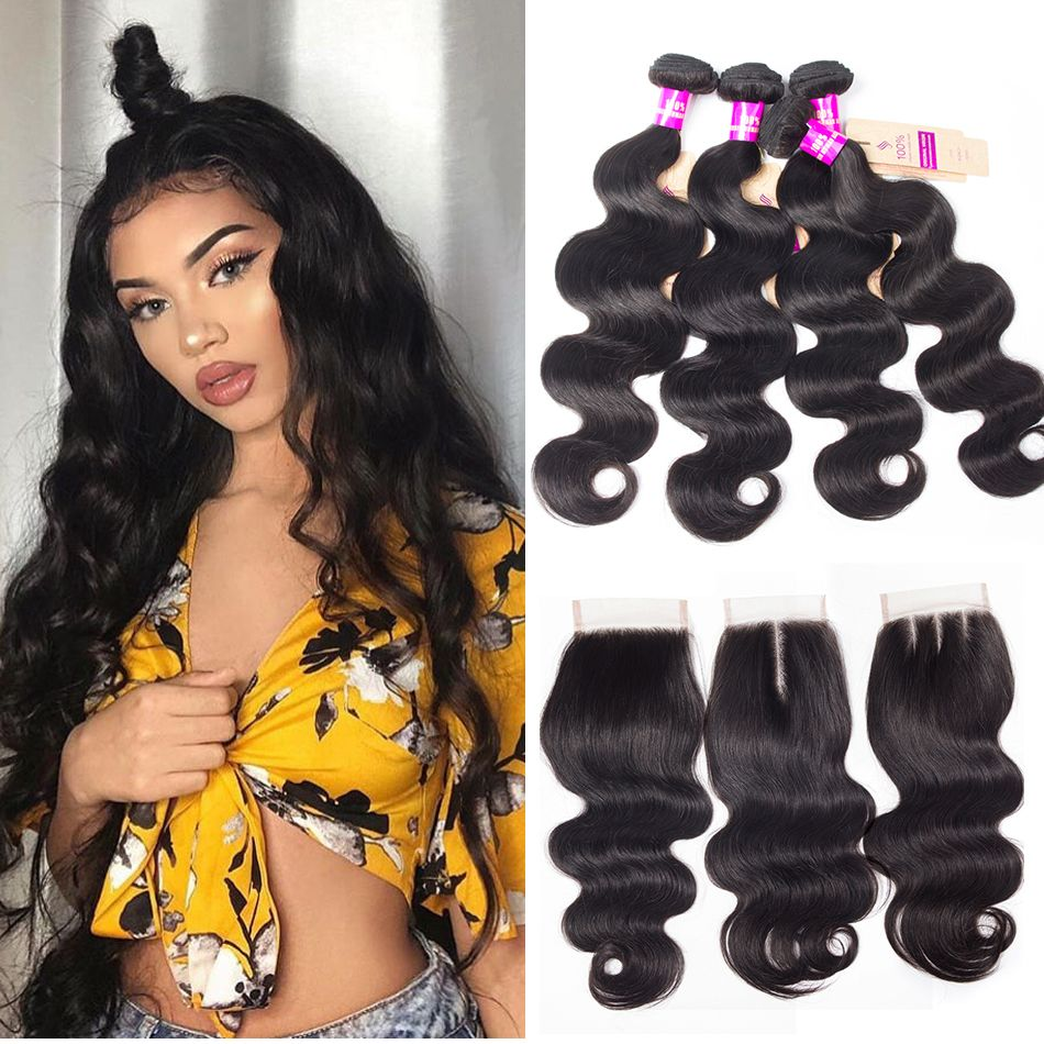 tinashe hair brazilian body wave 4 bundles with closure