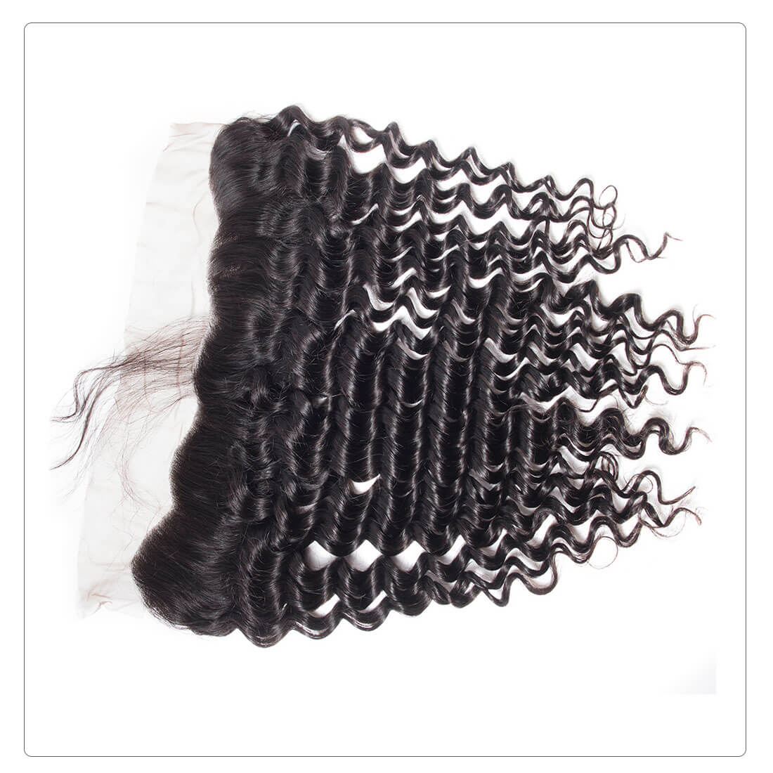 deep wave lace frontal hair extension