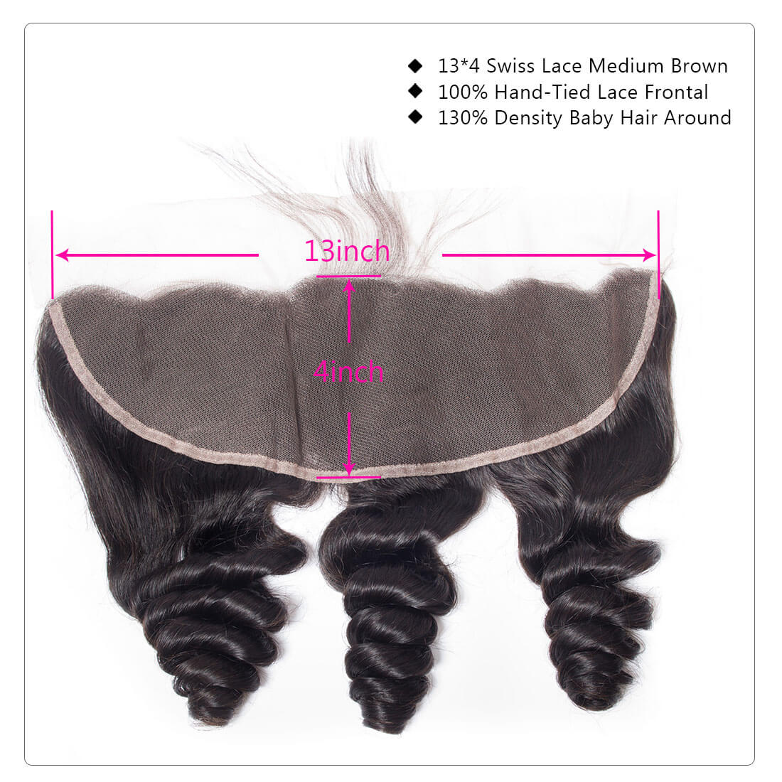 loose wave lace frontal closure hair extension
