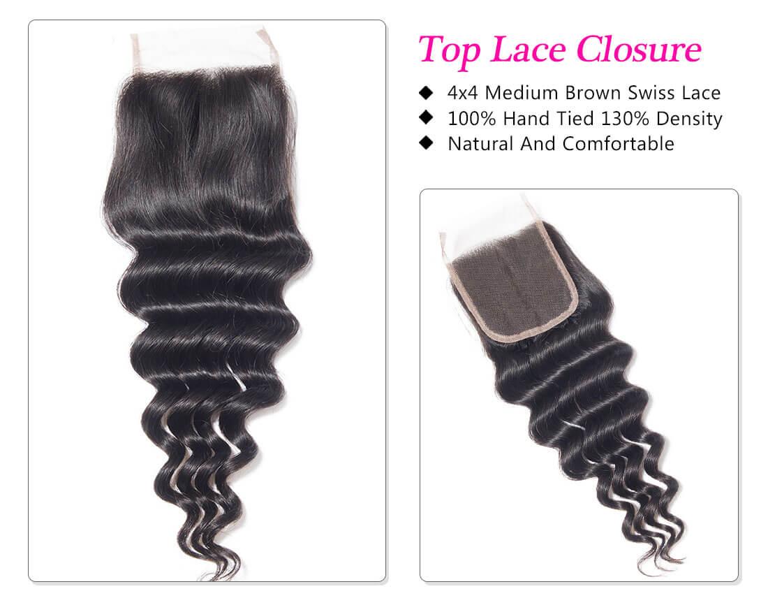 loose deep closure hair extension