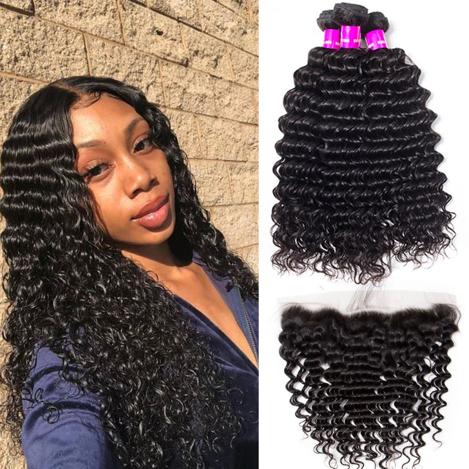 peruvian deep wave 3 bundles with frontal
