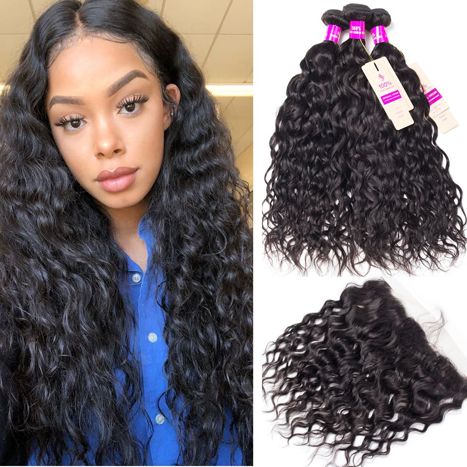 tinashe hair peruvian water wave with frontal