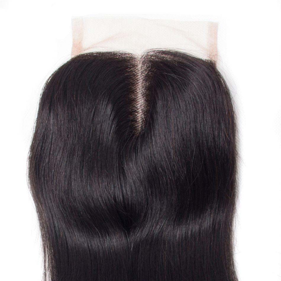 straight hair lace closure 4