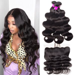 tinashe hair indian body wave 3 bundles with frontal