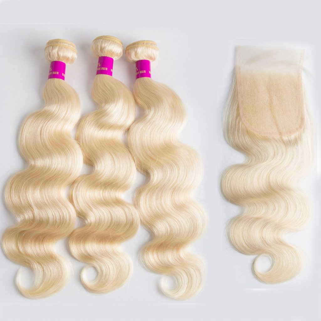 Tinashe hair blonde 613 body wave with closure