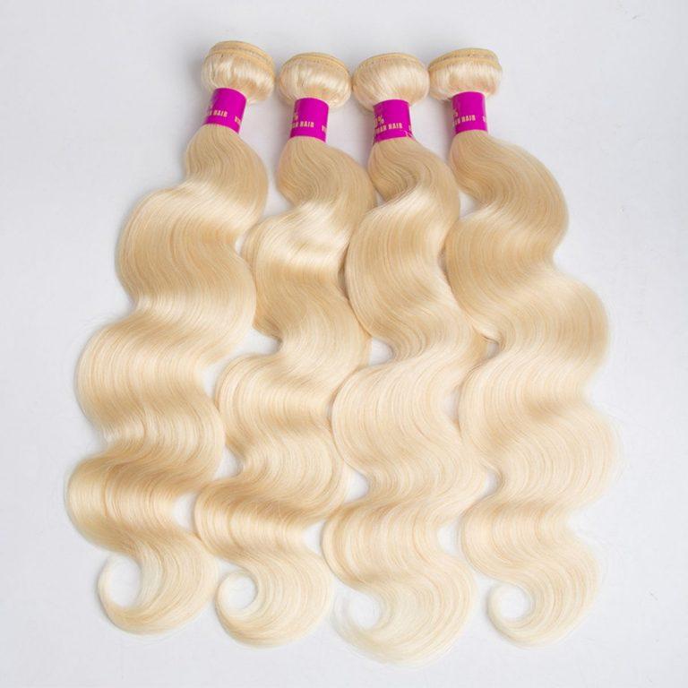 blonde body wave 4 bundles