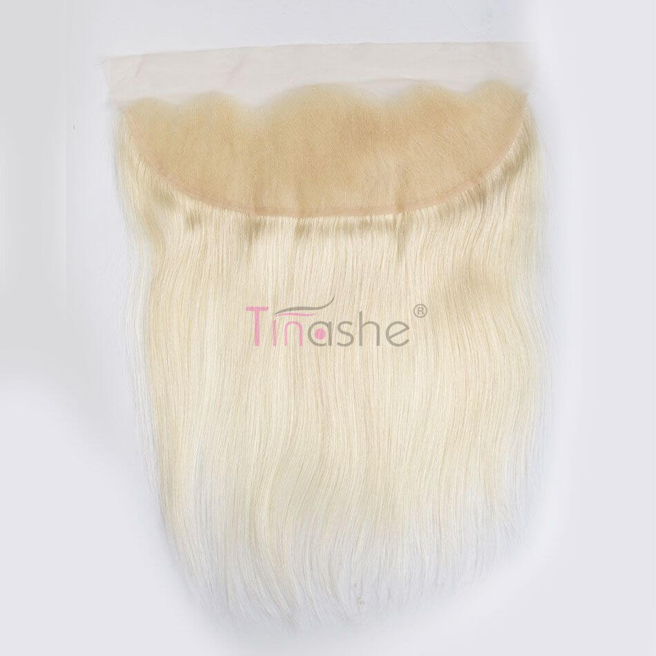 tinashe blonde hair straight lace frontal closure (3)