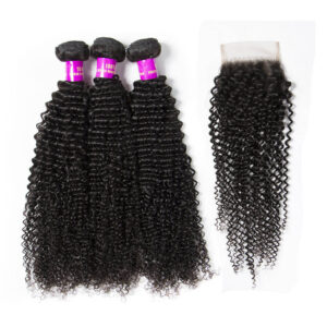 tinashe hair kinky curly bundles with closure