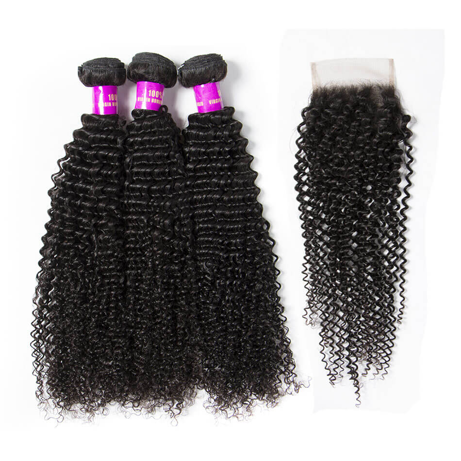 tinashe hair kinky curly bundles with closure (1)