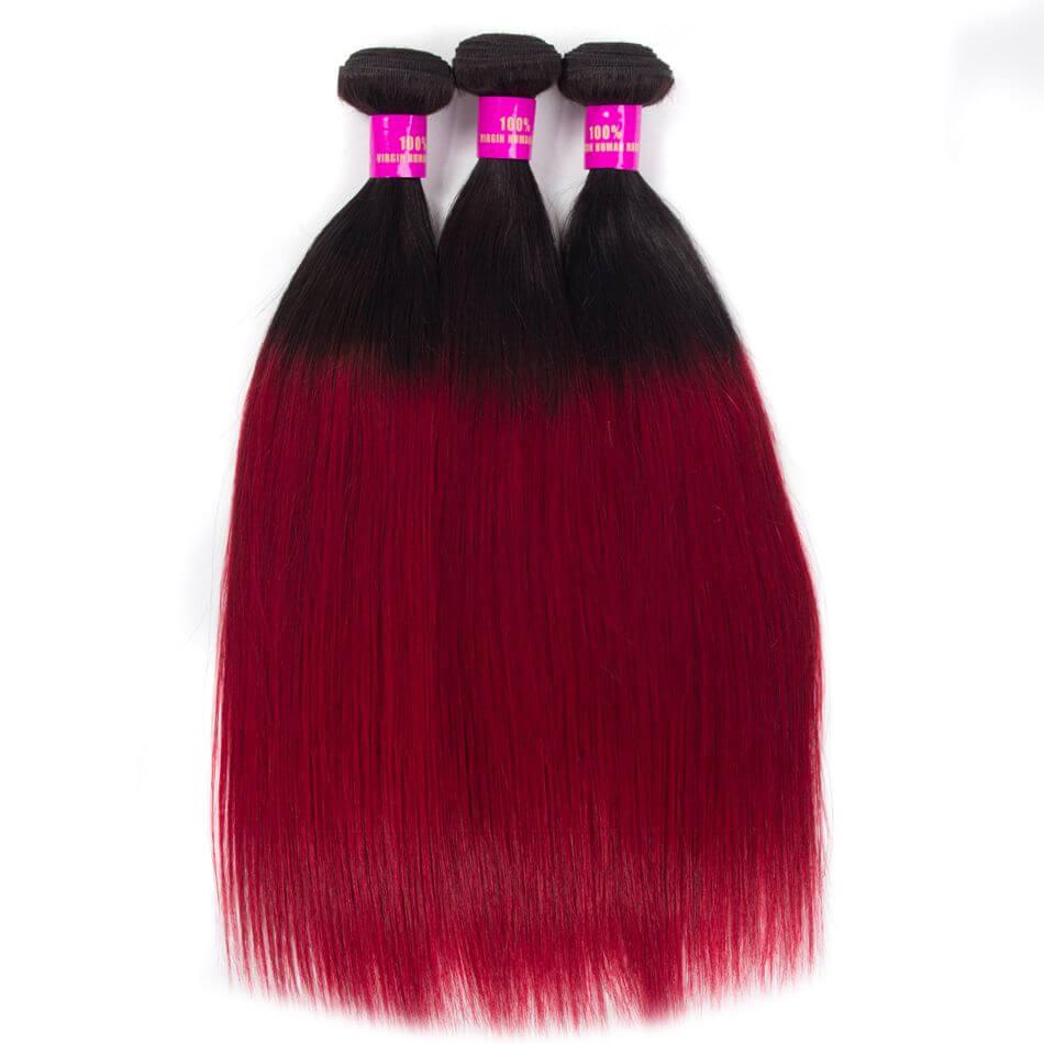 Tinashe hair straight hair bundles ombre hair 1b burg (3)