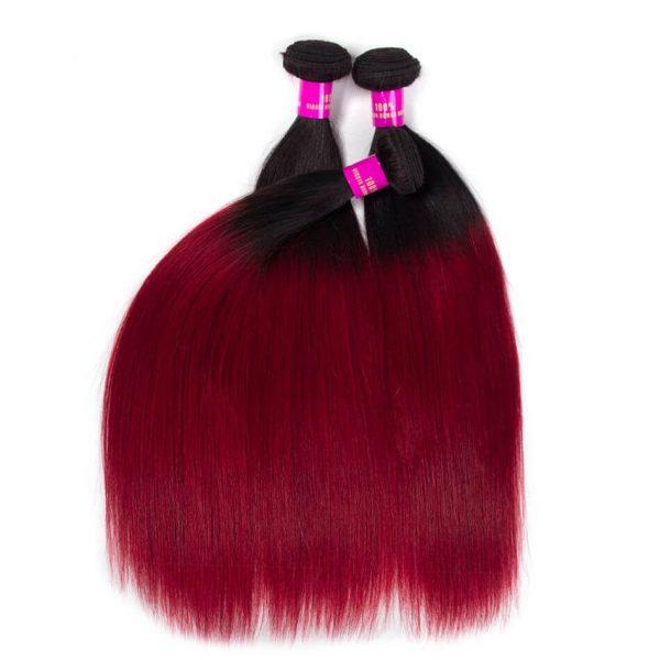 Tinashe hair straight hair bundles ombre hair 1b burgundy