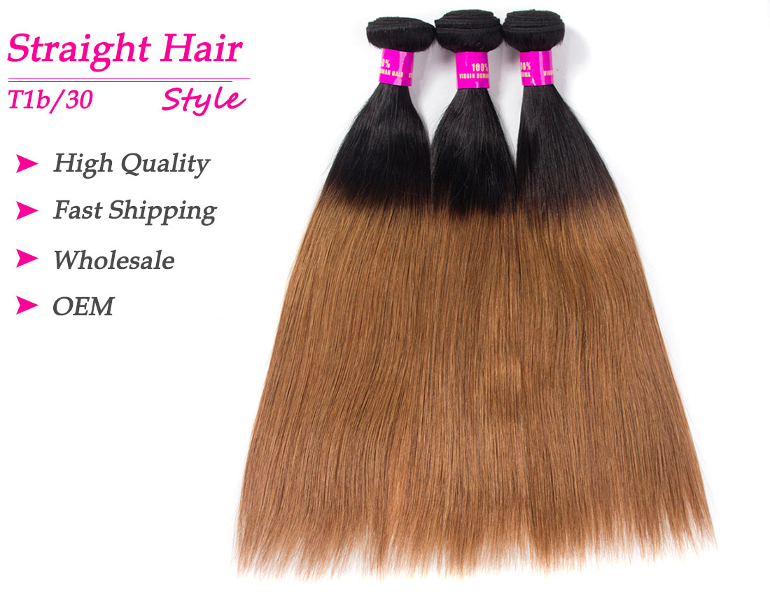 Tinashe hair 1b/30 straight ombre human hair bundles
