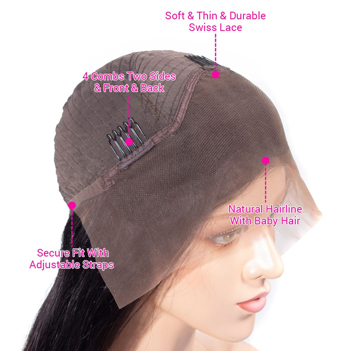 13x4 lace front wig details