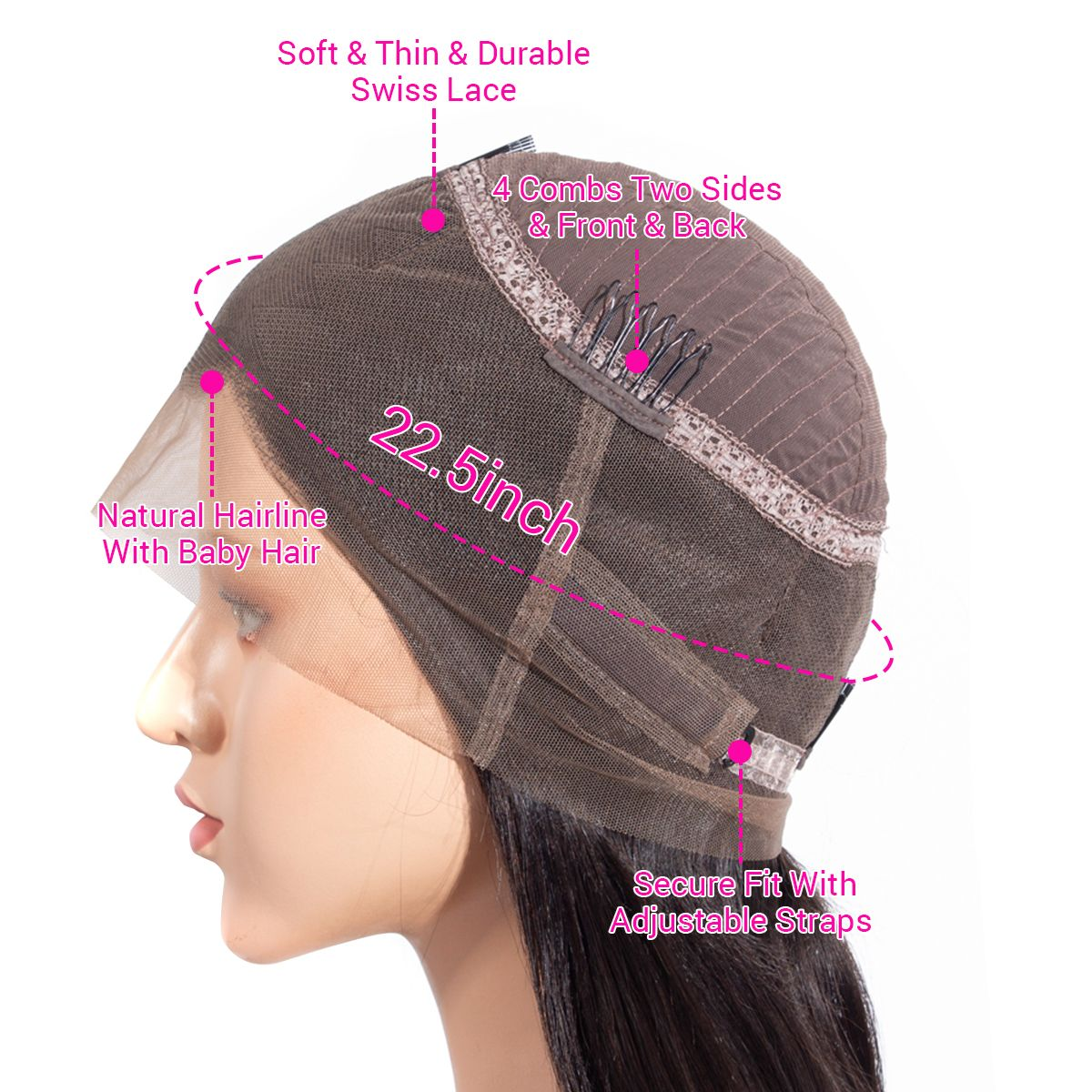 360 lace frontal wig details