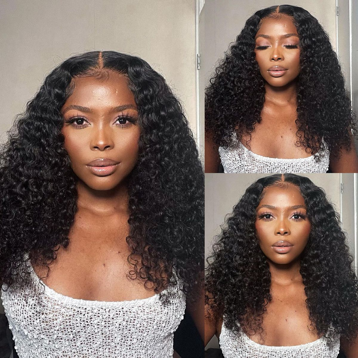 Curly-6x6-lace-closure-wig