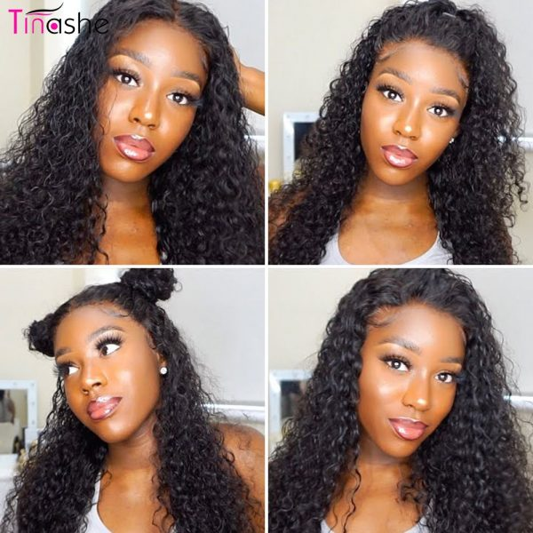 Curly lace front wig share