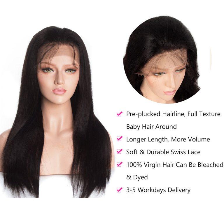 Straight-wig