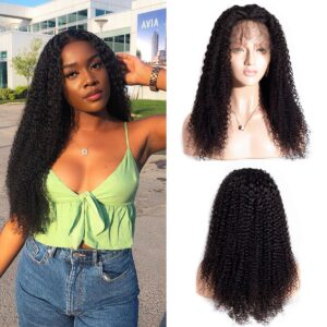 kinky curly 360 lace frontal wig
