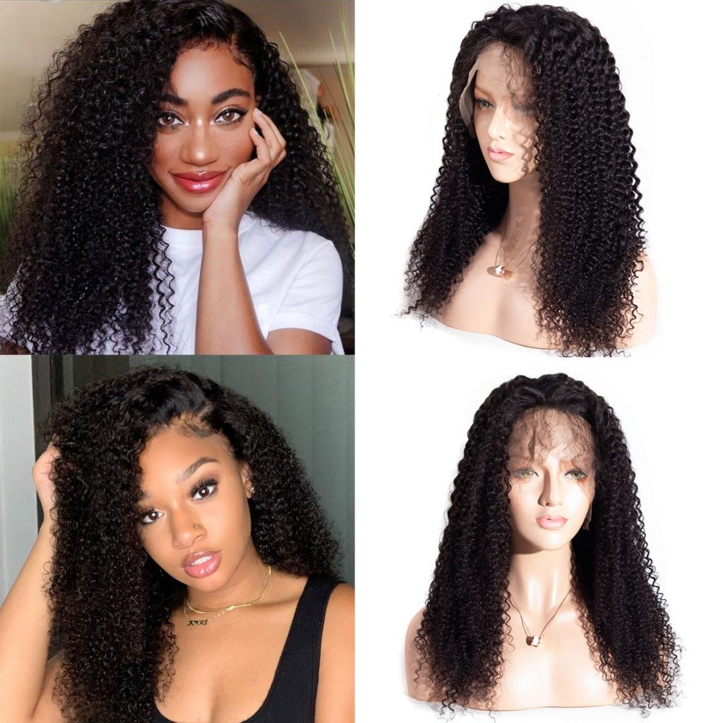 kinky curly lace front wig 4