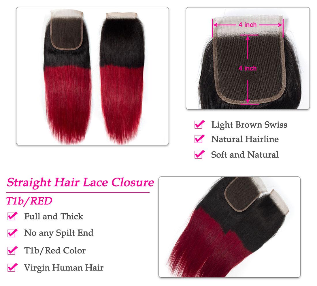 tinashe hair ombre striaight hair closure