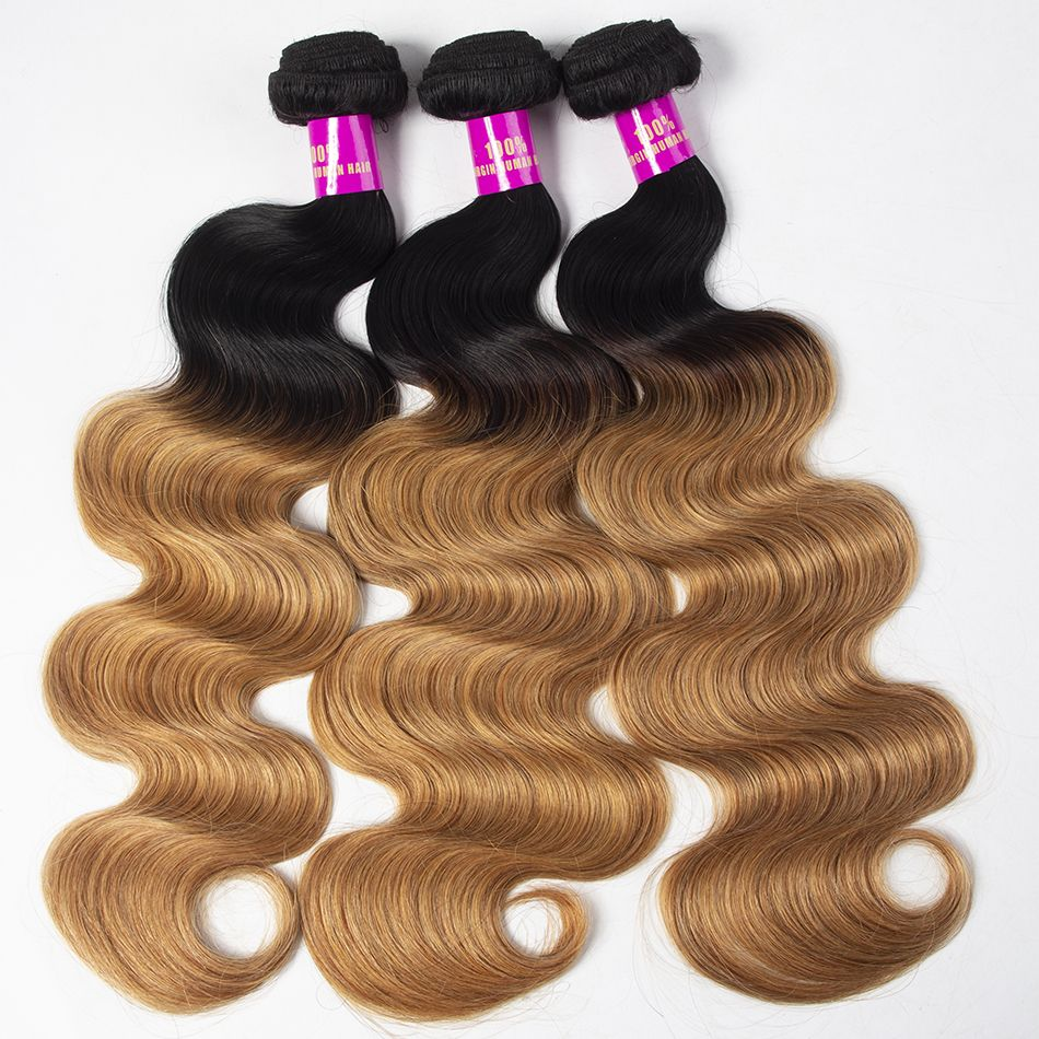 Tinashe hair 1b 27 ombre gloden blonde hair body wave bundles (8)