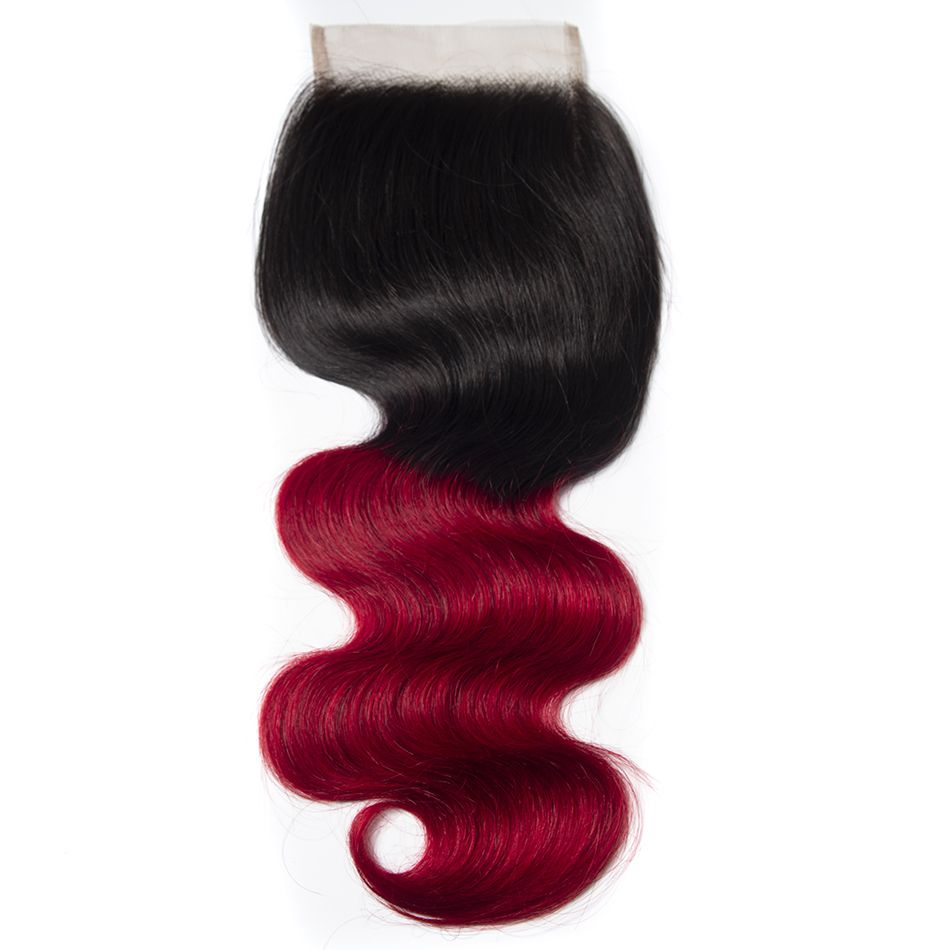 Tinashe hair 1b red body wave closure (1)