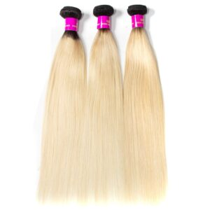 Tinashe hair ombre 1b 613 honey blonde straight hair bundles
