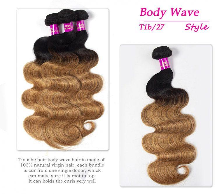 Tinashe hair 1b 27 ombre gloden blonde hair body wave bundles