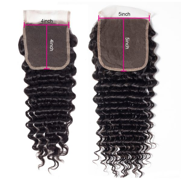 Tinashe hair deep wave 5x5 lace closure