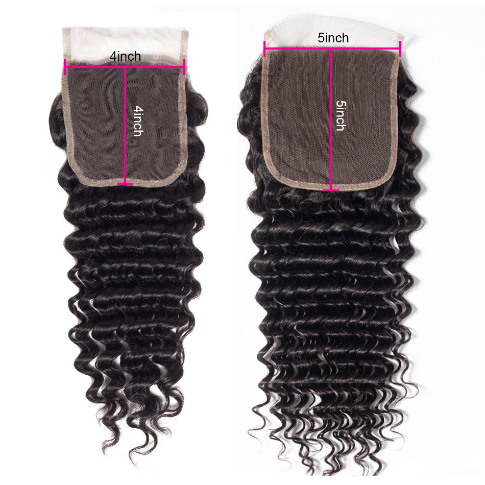 Tinashe hair deep wave 5x5 lace closure
