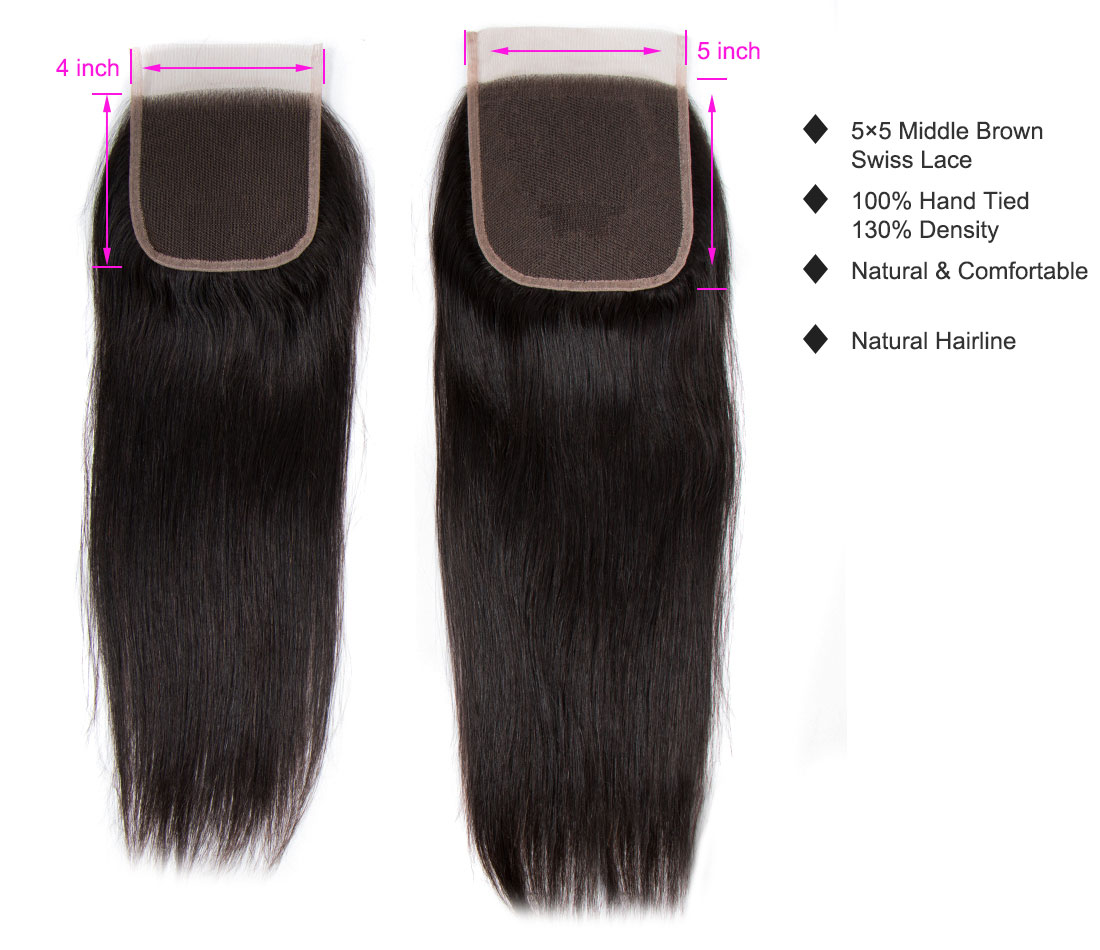 tinashe hair straight 5×5 closure
