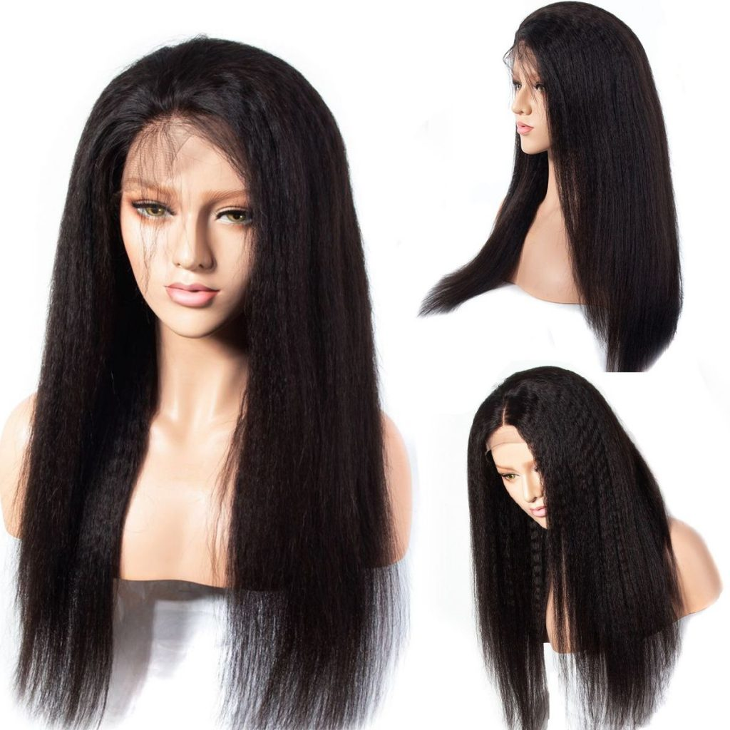 13x6 kinky straight lace front wigs