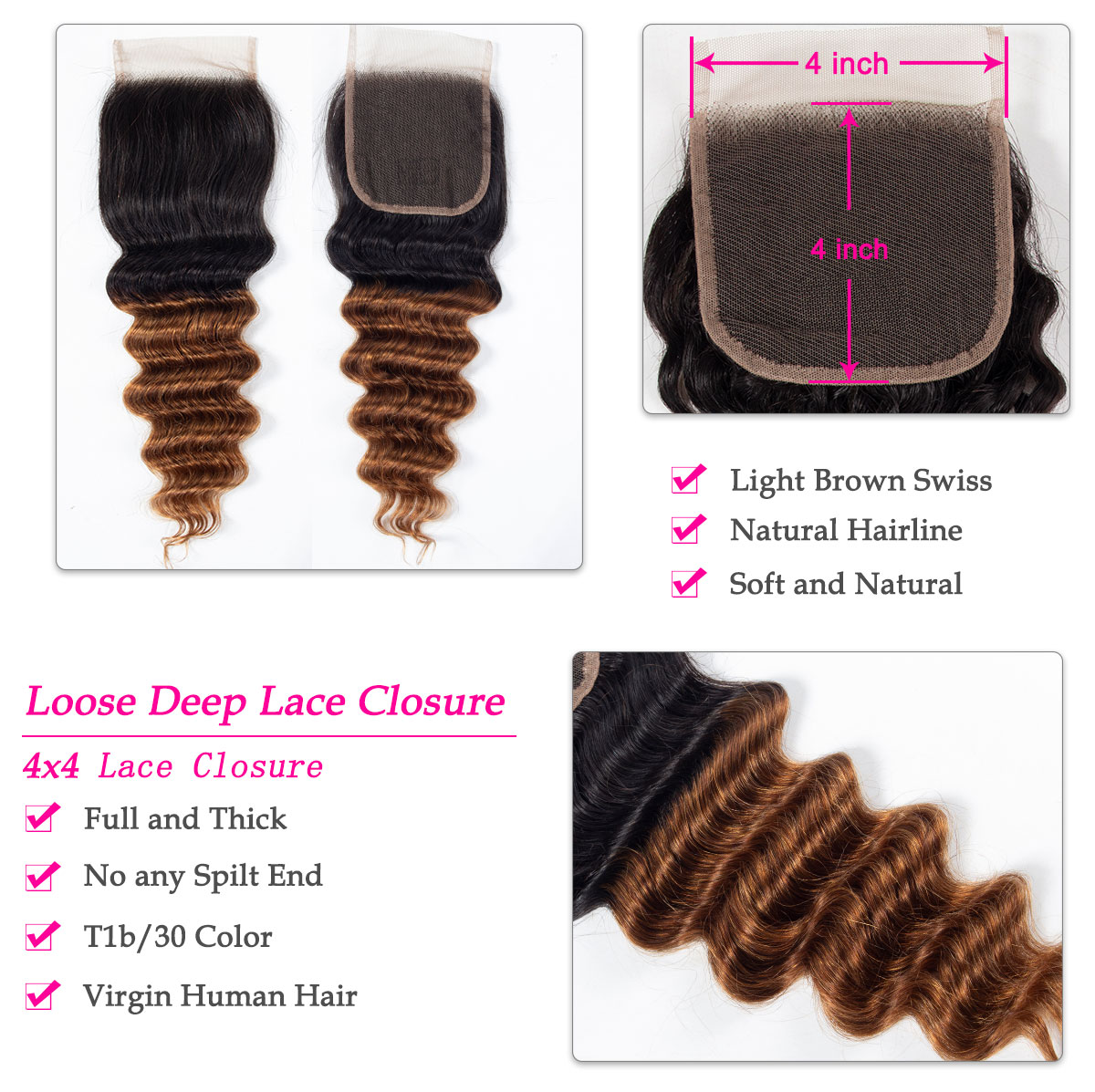 1b 30 loose deep bundles closure