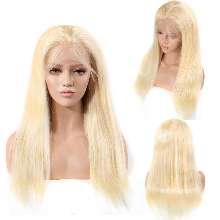 613 straight lace front wig