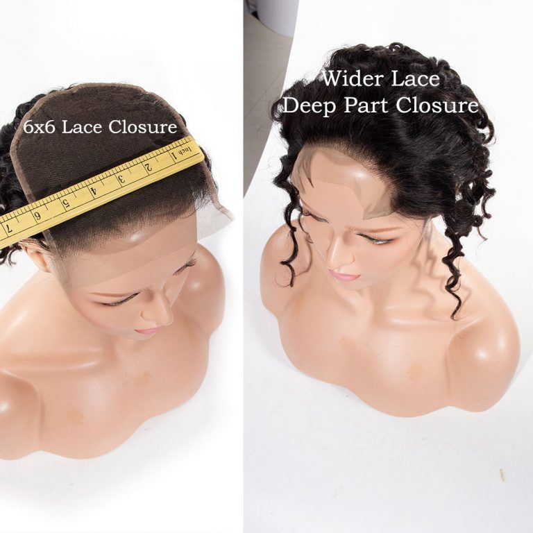 6x6 water wave lace closure