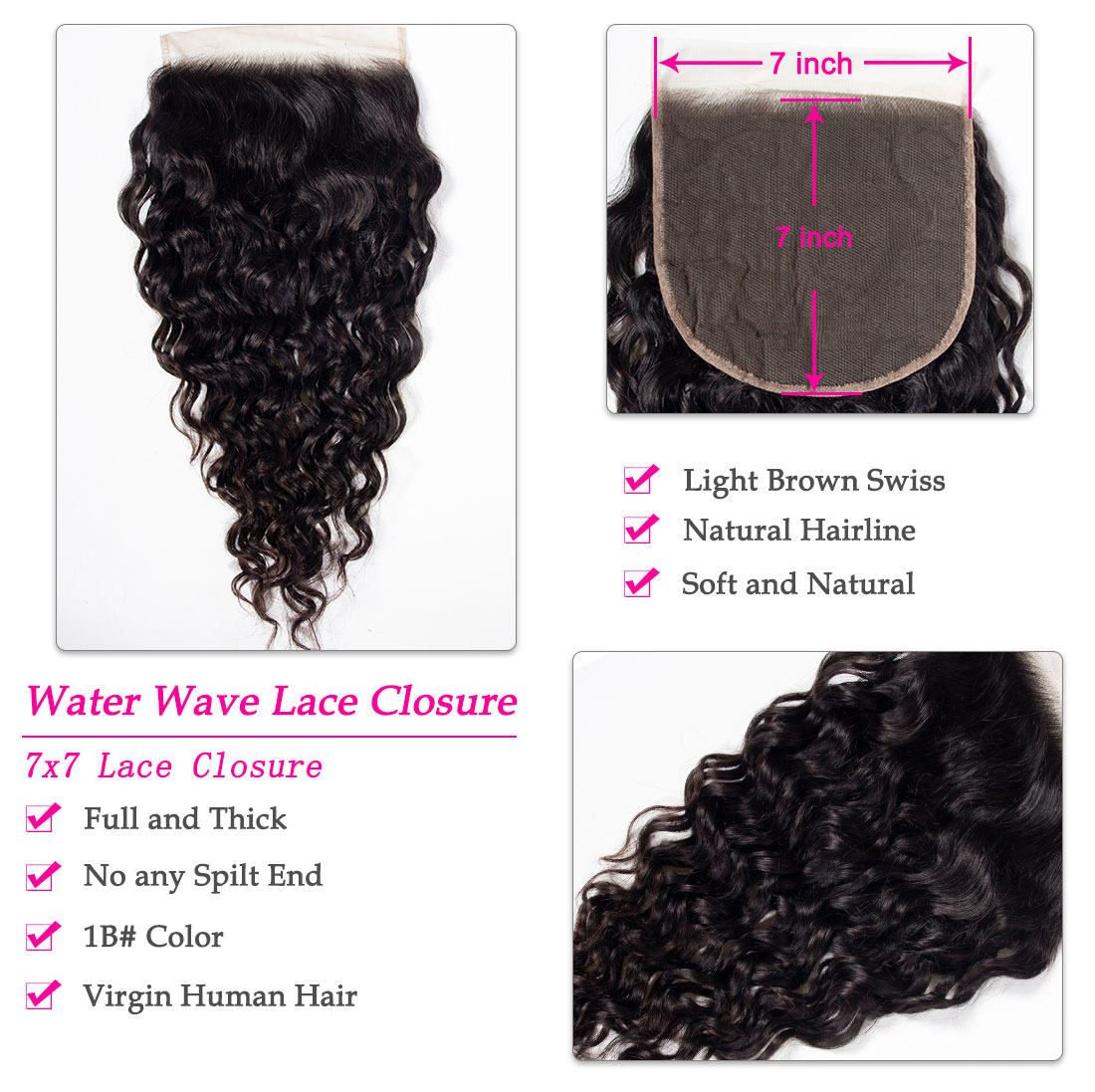 water wave 7x7 closure