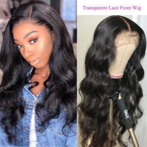 Body-wave-transparent-lace-front-wig
