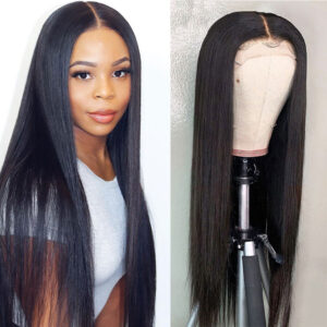 Straight-transparent-lace-front-wig