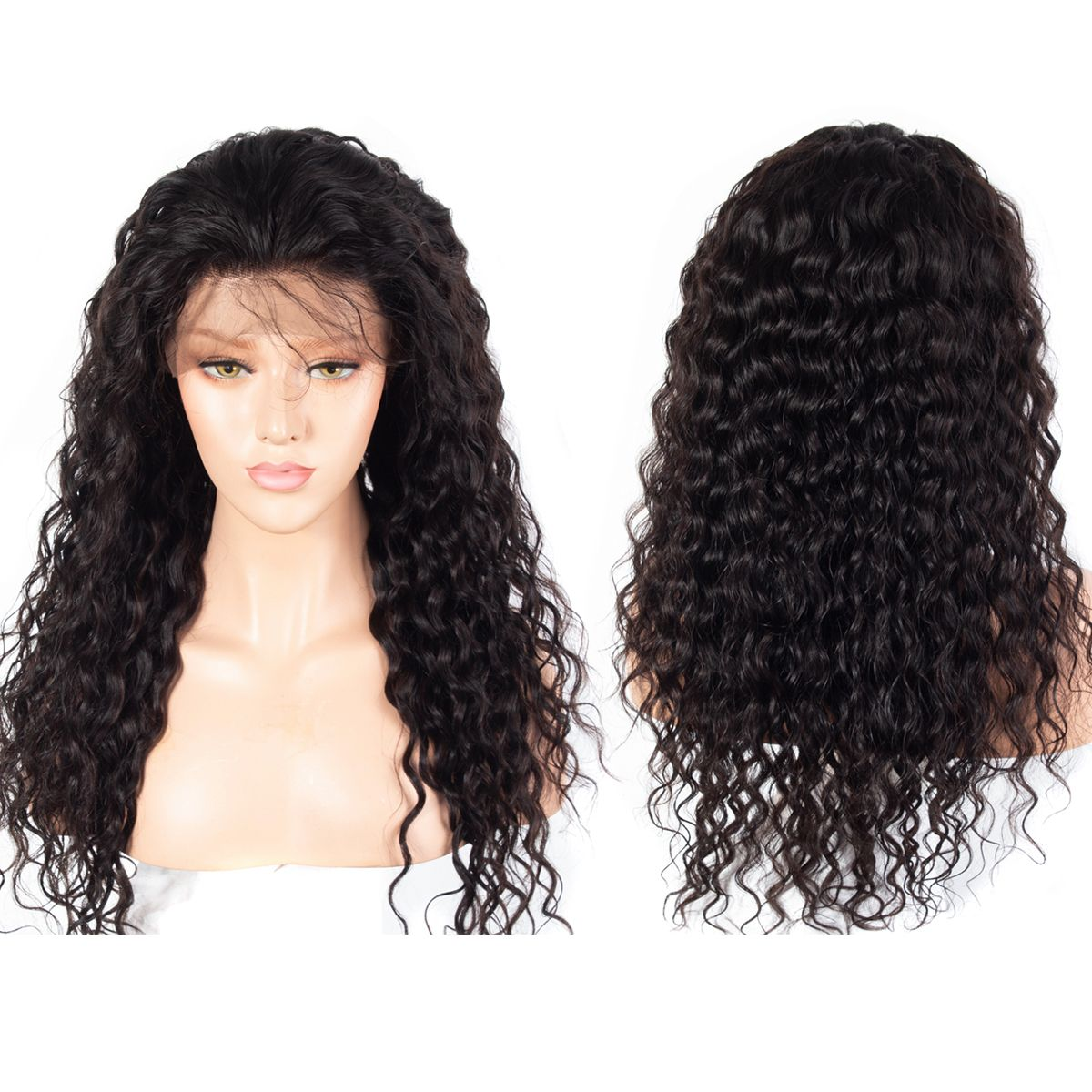 Water wave full lace wigs