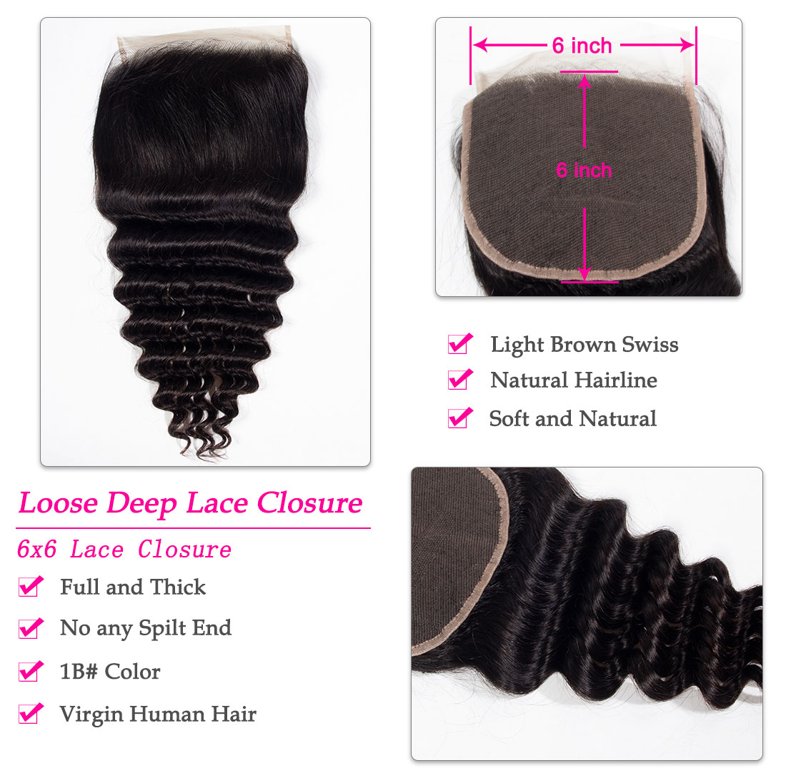 loose deep 6x6 lace closure