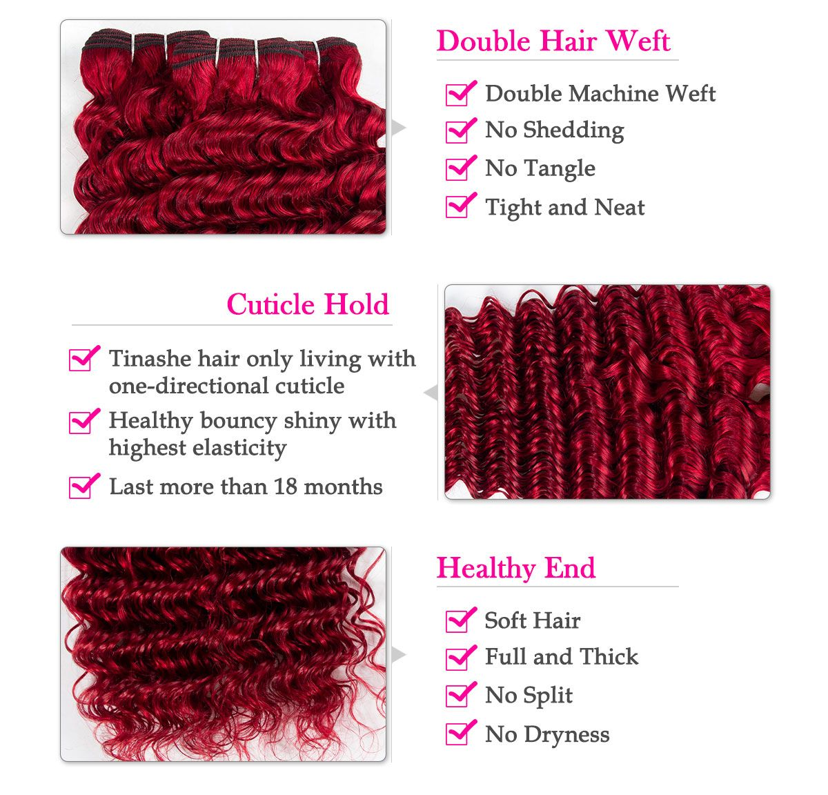 red deep wave bundles