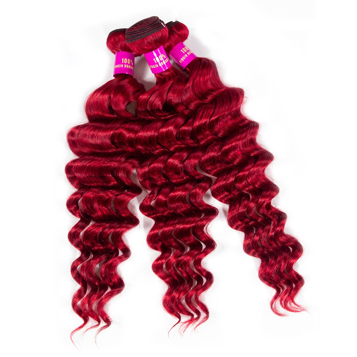 red loose deep hair bundles 1