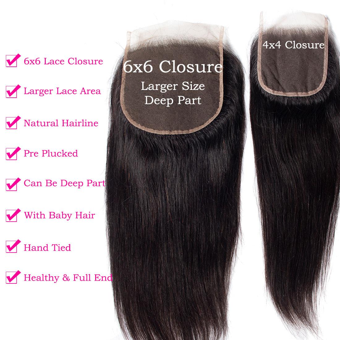 tinashe hair 6x6 straight hair closure