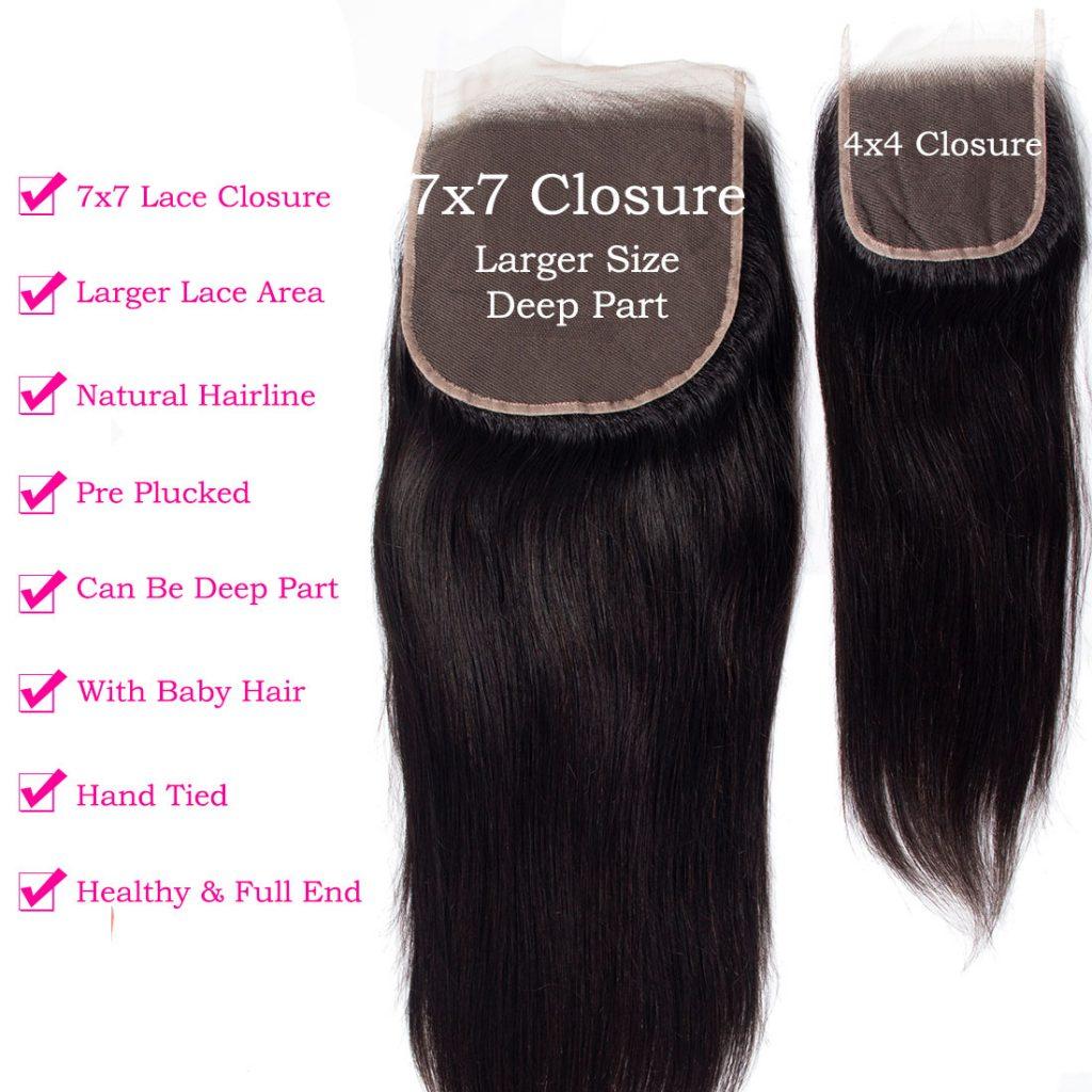 tinashe hair 7×7 straight hair closure (2)