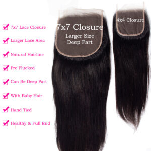 tinashe hair 7x7 straight hair closure