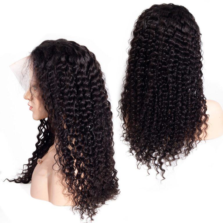 transparent deep lace front wig001
